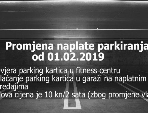 Promjene uvjeta parkinga u Centru Kaptol