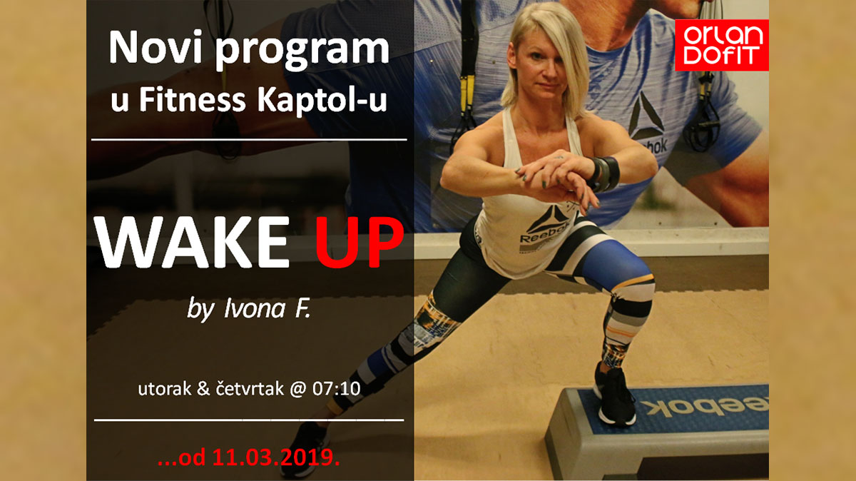 WAKE UP – novi grupni program u Fitness Kaptolu