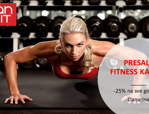 PRESALE uz popust na sve FitnessKaptol godišnje članarine!