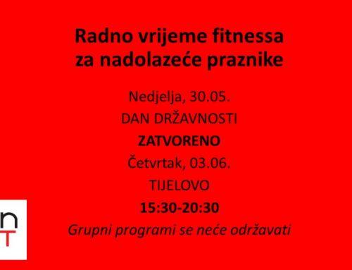 Radno vrijeme – Dan državnosti & Tijelovo 2021.