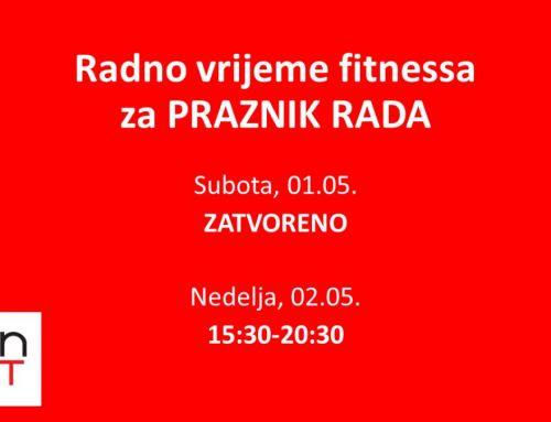 Radno vrijeme OFG – 01.05.2021.