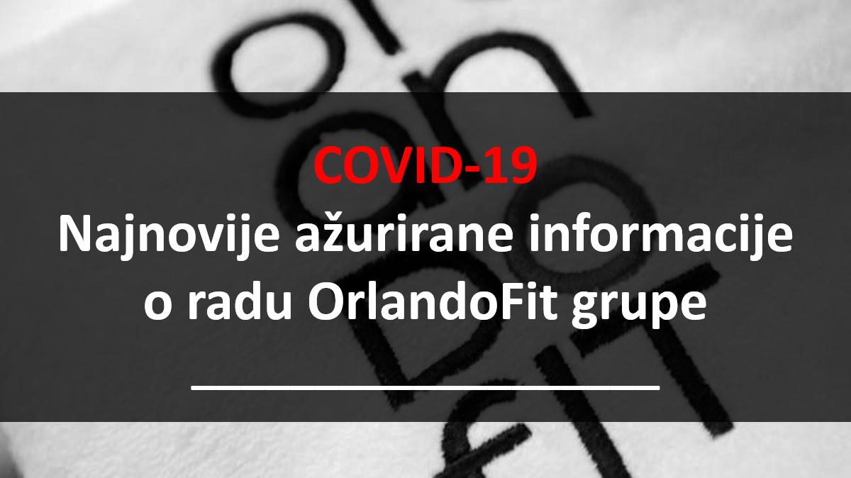 COVID-19: Važne informacije za članove OrlandoFit fitness centara